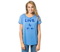 Live By The Sea - T-Shirt für Damen - Blau