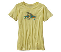 Isle Wild Flying Fish Cotton Crew - T-Shirt für Damen - Gelb