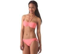 Solid Bandeau B-Cup - Bikini Set für Damen - Pink