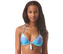Binded Tiki Triangle - Bikini Oberteil für Damen - Blau