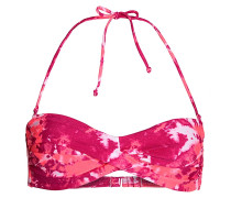 Graffiti Beach - Bikini Oberteil für Damen - Rot