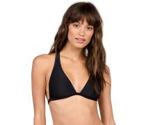 Simply Solid Halter - Bikini Oberteil für Damen - Schwarz