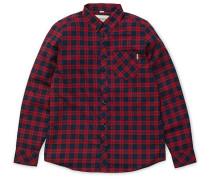 Shawn L/S - Hemd für Herren - Rot