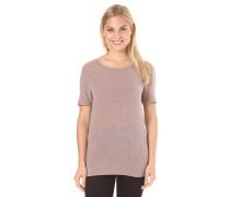 Visilla Melange Slit Back - T-Shirt