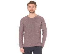 Loose Knitted C Neck - Strickpullover für Herren - Rot