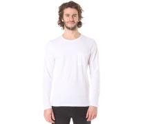 Pima Florence O-Neck - Langarmshirt für Herren - Weiß