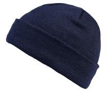 Short Cuff Knit Mütze - Blau