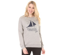 Boat Crewneck - Sweatshirt für Damen - Grau