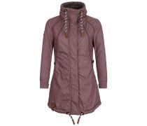Zebratwist - Mantel für Damen - Lila