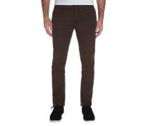 2X4 Twill 5 Pocket - Stoffhose für Herren - Braun
