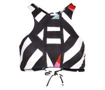 Surf Caps.High Neck - Bikini Oberteil für Damen - Schwarz