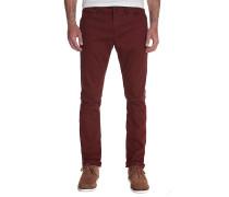 2X4 Twill 5 Pocket - Stoffhose für Herren - Rot