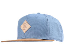 6P SB Light Canvas Snapback Cap - Blau