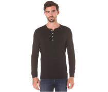 Iconic Henley - Langarmshirt für Herren - Schwarz