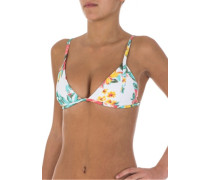 Paradise Found Triangel - Bikini Oberteil für Damen - Weiß