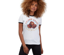 Speed Up Ringer - T-Shirt für Damen - Weiß