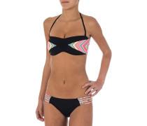 Tribal Quest Bandeau - Bikini Set für Damen - Schwarz