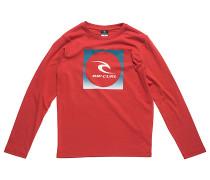 Square Logo - Langarmshirt für Jungs - Rot