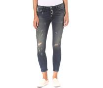 Midi - Button Fly - Jeans für Damen - Blau