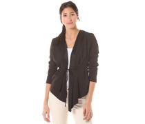 Jersey Crepe - Sweatjacke für Damen - Schwarz