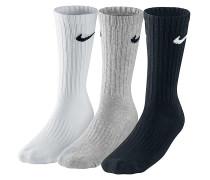 Value Cotton Crew 3 Pack Socken - Mehrfarbig
