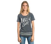 Love & Surf - T-Shirt für Damen - Schwarz