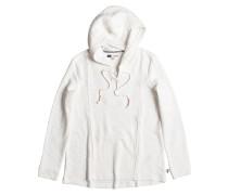 Pearling Poncho - Kapuzenpullover für Damen - Weiß
