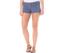 Island Print - Shorts für Damen - Blau
