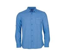 Leon - Langarmshirt für Herren - Blau