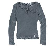 Doubled - Langarmshirt für Mädchen - Grau