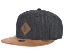 6P SB Linen Snapback Cap - Schwarz