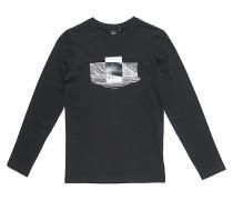 Double Frame - Langarmshirt für Jungs - Schwarz