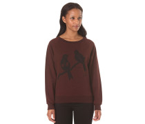 Love Birds Crewneck - Sweatshirt für Damen - Rot