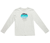 Cali Bear Stripes - Langarmshirt für Jungs - Weiß