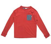 Chambray Pocket - Langarmshirt für Jungs - Rot