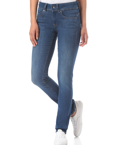Midge Saddle Mid Straight/Ment Superstretch - Jeans