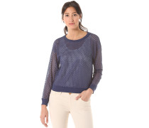 Lace - Langarmshirt für Damen - Blau