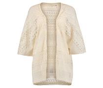 Lace Kimono - Strickjacke für Damen - Beige