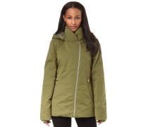 Asymmetric Waisted - Jacke für Damen - Beige