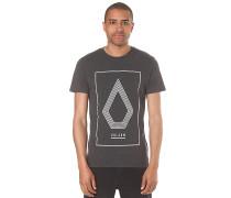 Line Art Heather - T-Shirt für Herren - Schwarz