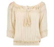 Embroidered - Hemd für Damen - Beige