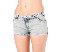 Skinny - Shorts für Damen - Blau