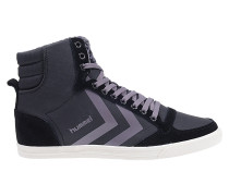 Waxed Herringbone Hi - Fashion Schuhe für Damen - Schwarz