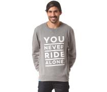 Ynra Font Crew - Sweatshirt für Herren - Grau
