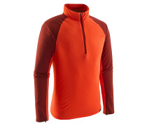 Cap LW Zip Neck - Langarmshirt für Herren - Orange