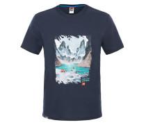 Never Stop Exploring Series - T-Shirt für Herren - Blau
