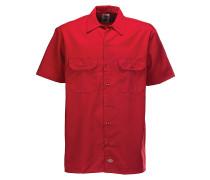 Work S/S - Hemd für Herren - Rot
