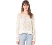 Fringe - Strickpullover für Damen - Weiß