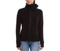 Her. Fleece Funnel - Fleecejacke - Schwarz