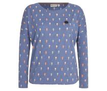 Gewitzt Gespritzt - Langarmshirt für Damen - Blau